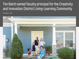 Baird named faculty principal at CID LLC, VT News, September 2020