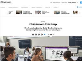 Classroom Revamp, Steelcase 360 Magazine, November 2018