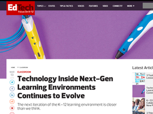 Next Gen Learning Environments, EdTech, March 2019