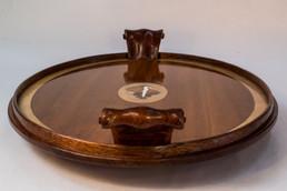 Mahogany Oval Tea Tray