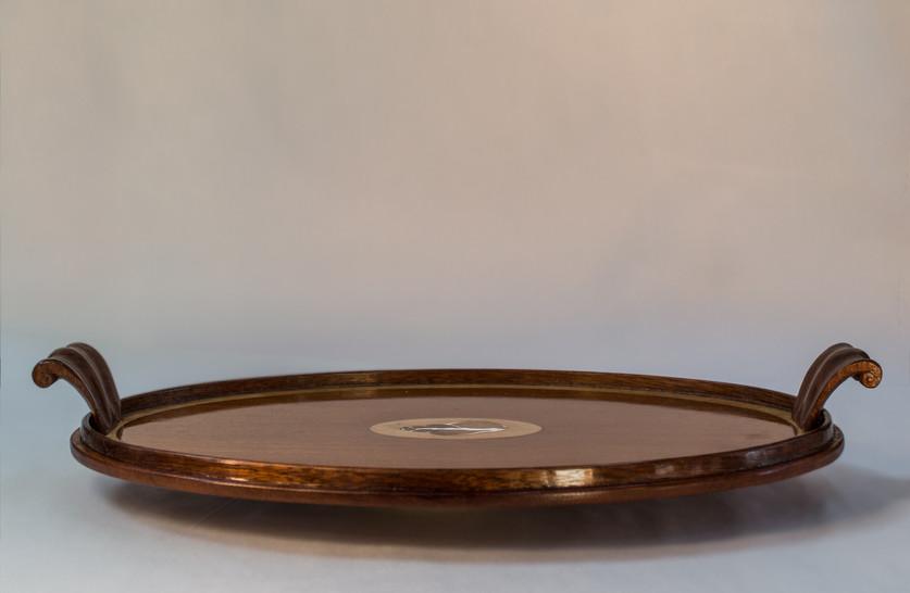 Oval Mahogany Tea Tray