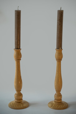 A Pair Of Ash Candle Sticks