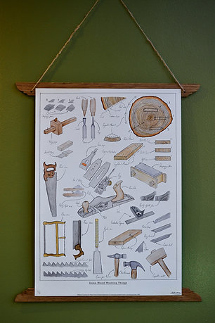 'Some Woodworking Things' Giclée Artwork Print