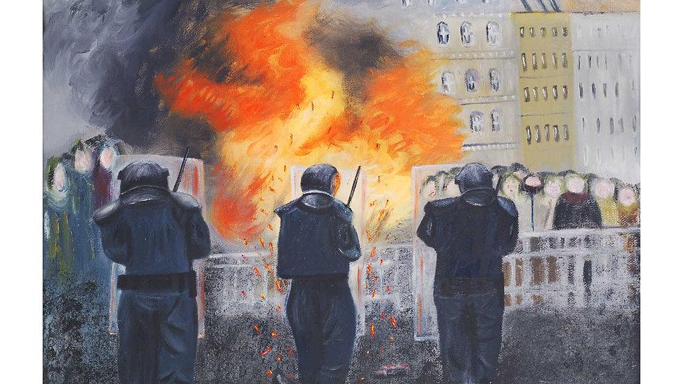 Fine Art Giclee Print Banjaxed Belfast Collection
