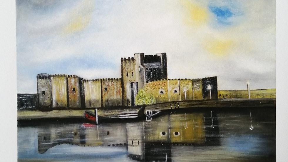 Fine Art Giclee Print of Carrickfergus Castle
