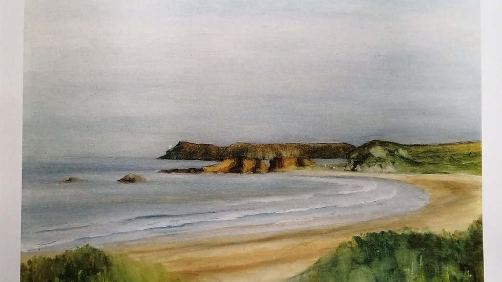 Fine Art Giclee Print of White Park Bay