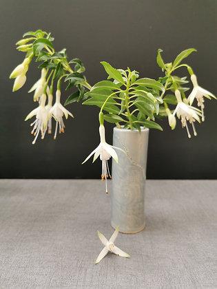 Individual Ice Blue/Grey Cylindrical Bud vase