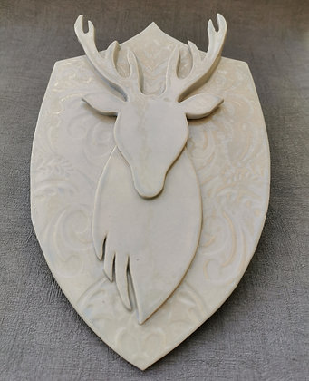 Grey Stags Head Wall Hanging