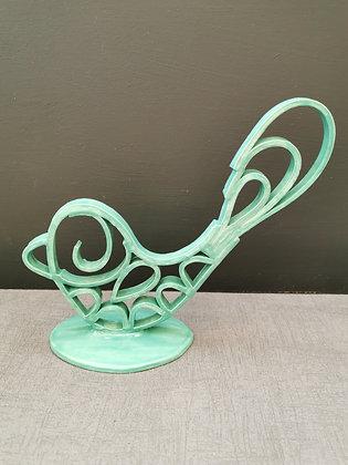Mint Green Scroll 'Bird'