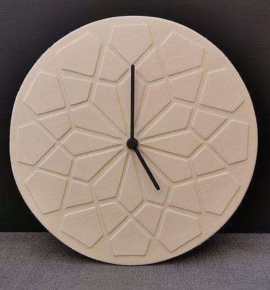 Cream Geometric Design Wall Clock