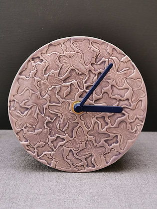 Lilac Butterfly Mantle Clock