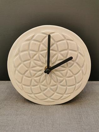 Grey Geometric Design Mantle Piece clock