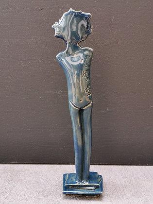Denim Blue Leaning Figurine