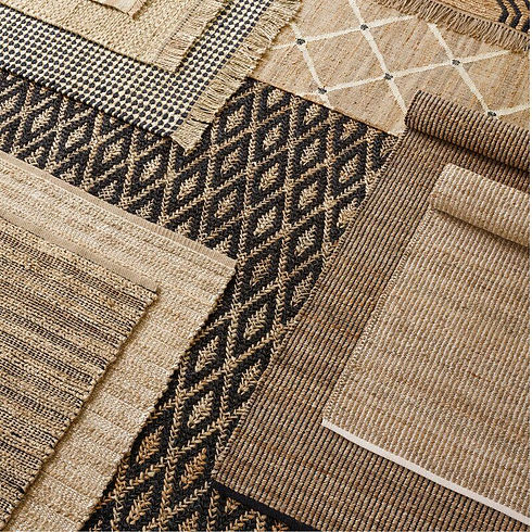 Gridwork Striped Handmade Flatweave Rug.