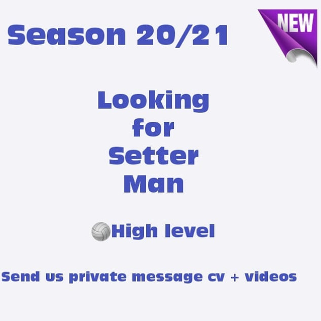 Looking for Setter Man JLR Volleyball Agency