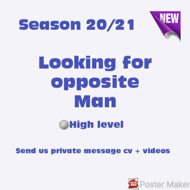 Looking for Opposite Man - JLR Volleybal