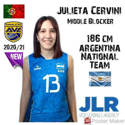 Julieta Cervini | JLR volleyball Agency
