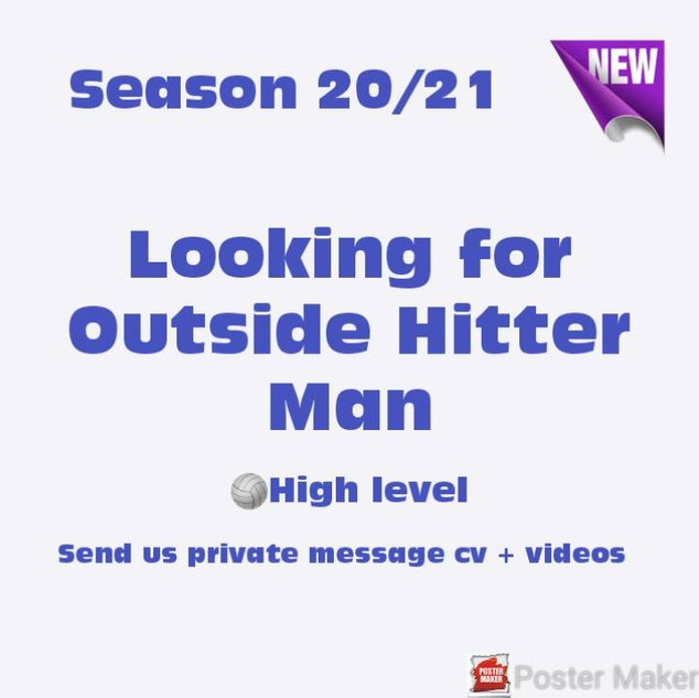 Looking for Outside Hitter Man - JLR Vol