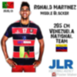 Middle Blocker Ronald Martinez | JLR Volleyball Agency