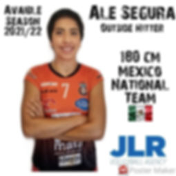 Alejandra Segura | JLR Volleyball Agency