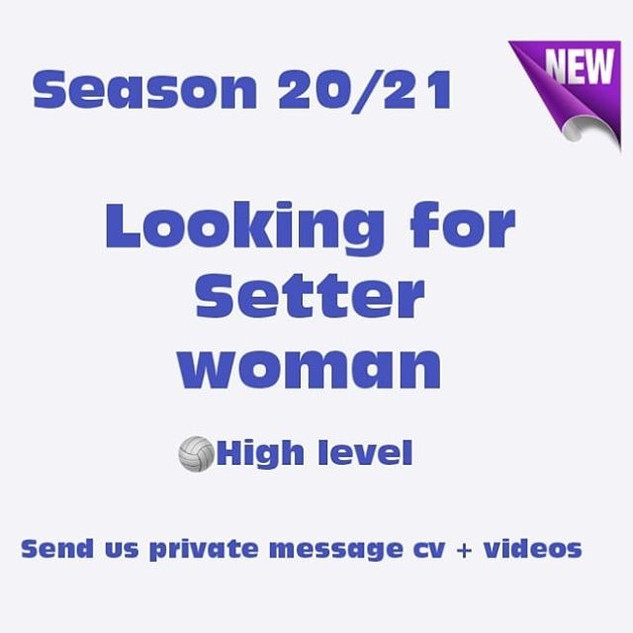Looking for Setter Woman - JLR Volleybal