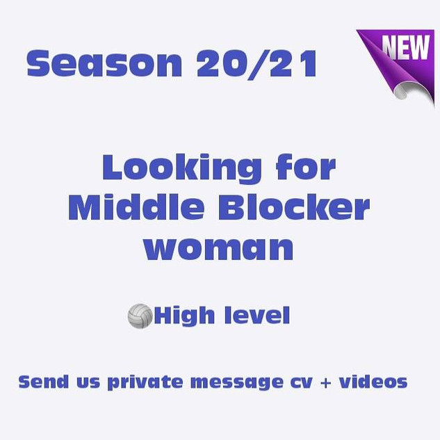 Looking for Middle Blocker Woman - JLR V