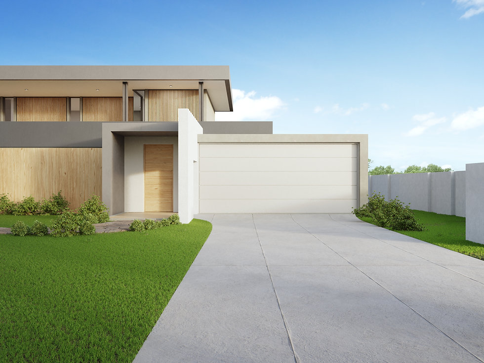 modern-house-and-green-grass-with-blue-s