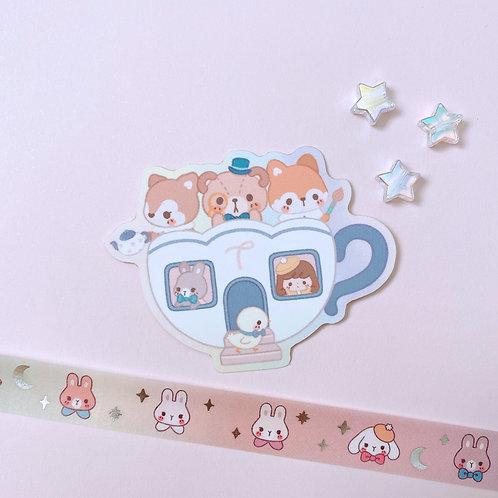 Teacup - Matte Soft Touch Sticker