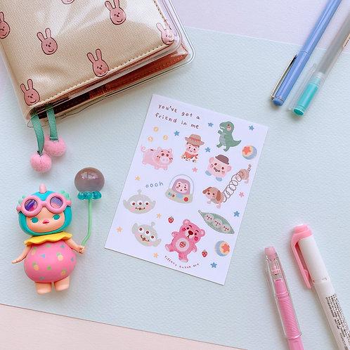Toy Friends - Sticker Sheet