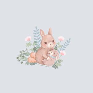 Rabbit with plush
