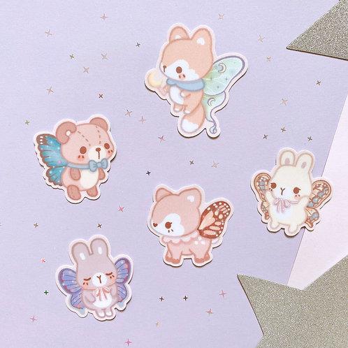Enchanted Woodland Animals Iridescent Sparkle Stickers