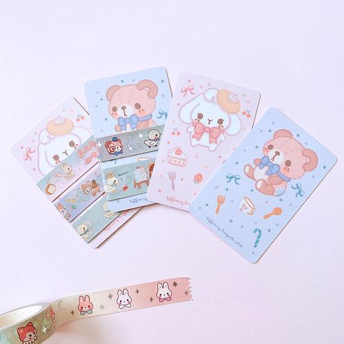 Double Sided Washi Card & Washi Samples