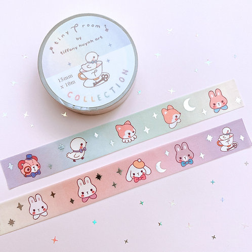 Tiny T Room Collection - Silver Foil Washi Tape