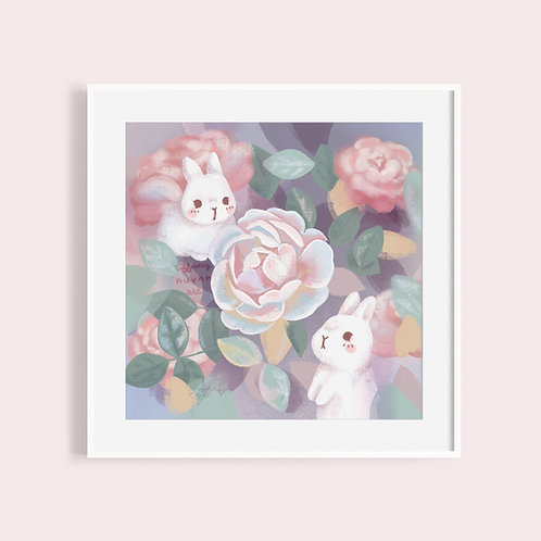 Bunnies and Peonies