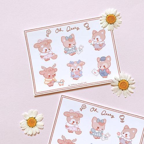 Oh Deery - Sticker Sheet