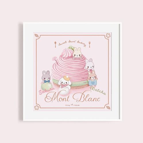 Sweet Buns' Bakery | Mont Blanc | Sakura Matcha