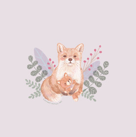 Fox with plush