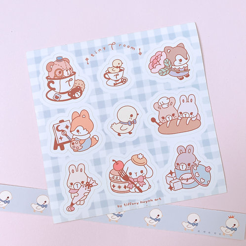 Tiny T Room Collection - Sticker Sheet