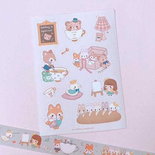 Woodland Tearoom - Sticker Sheet