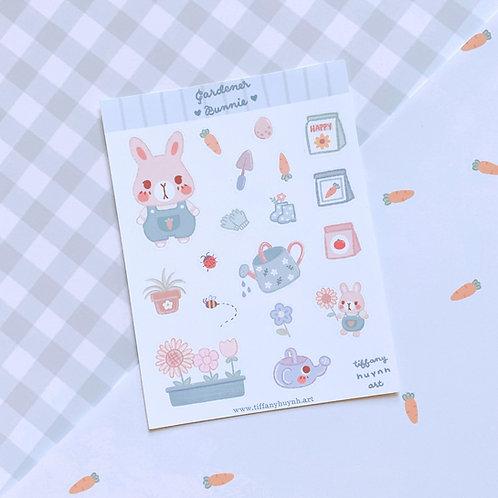 Gardener Bunny - Sticker Sheet