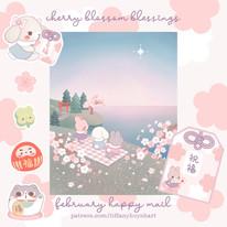cherry blossom blessings - february