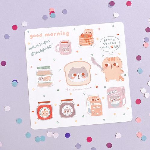 Panda and Tiger Breakfast - Sticker Sheet