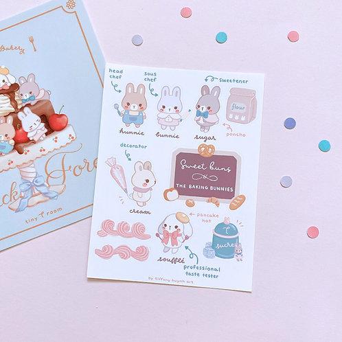 Sweet Buns - Sticker Sheet