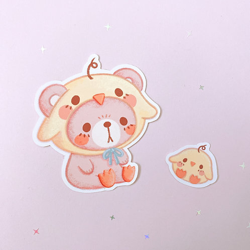 Pippie and The Bear Stickers