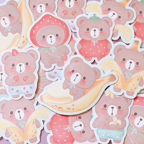 StrawBearry and Bearnana Sticker sets