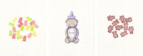 BEAR FOOD-Gummy Bears, Honey, Teddy Grahams