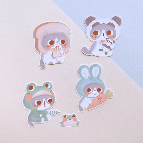 Panda Costume Stickers