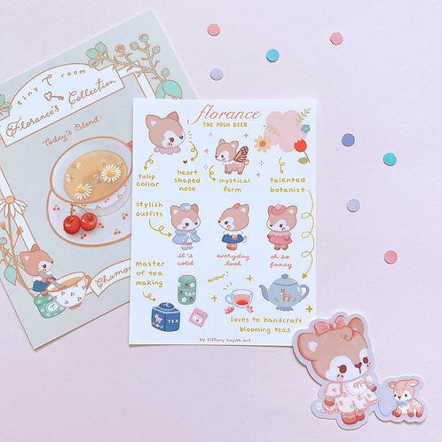 Florance Deer - Sticker Sheet
