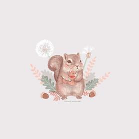 Squirrel with plush