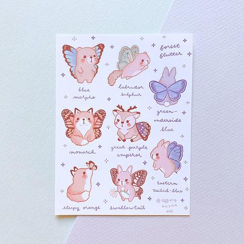 Enchanted Animals - Sticker Sheet